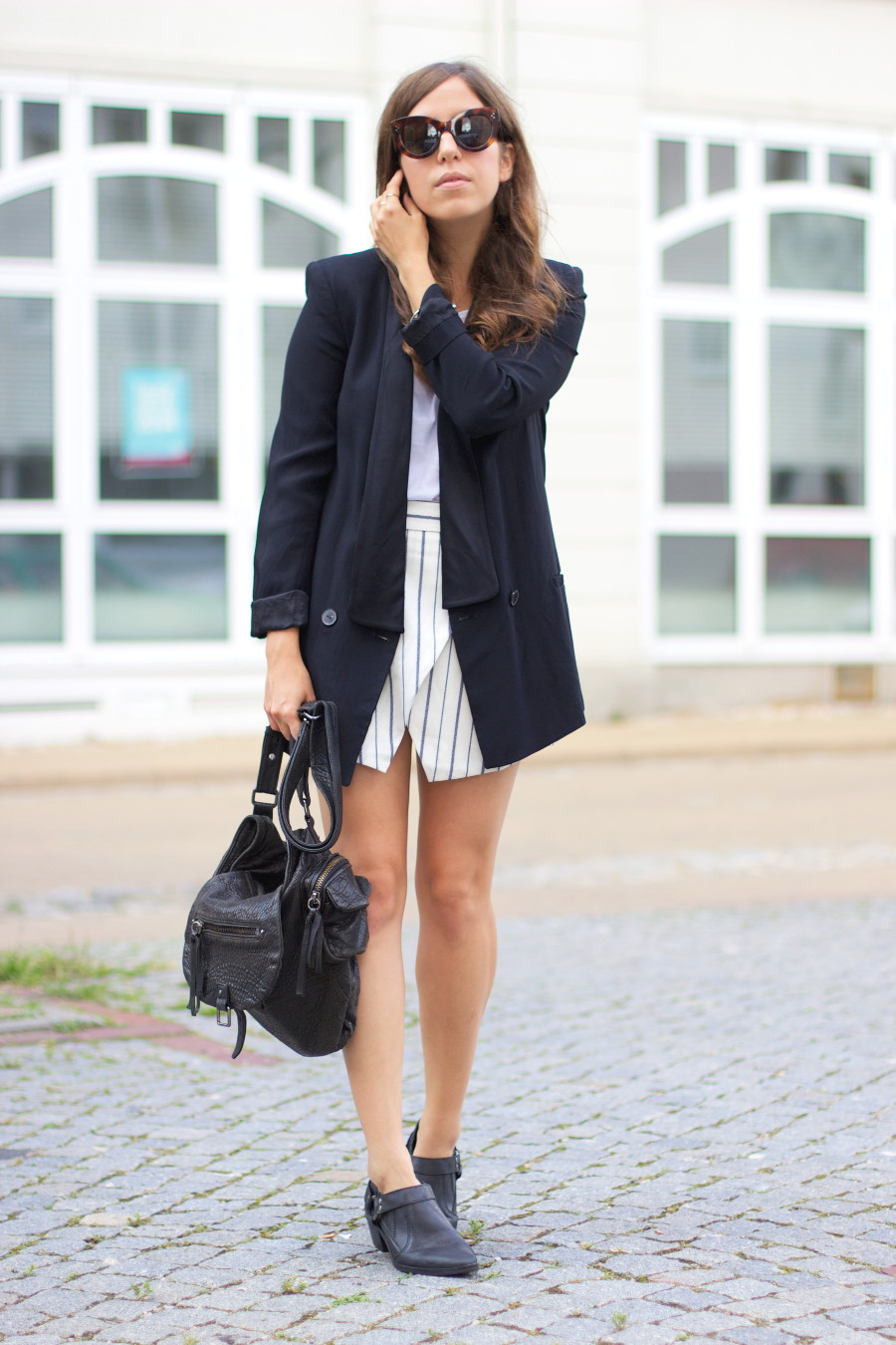 Striped Skort Outfit Ideas