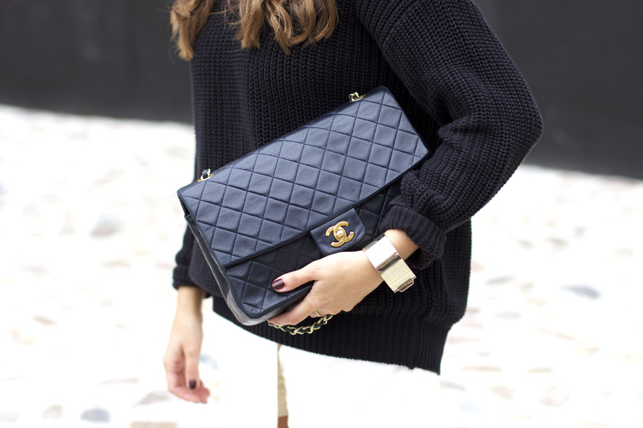 Casual Black White Outfit Chanel