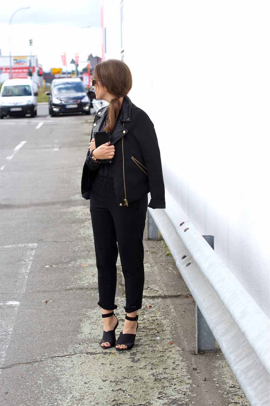 All Black Biker Outfit