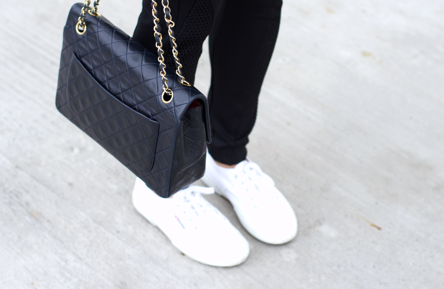 Turtleneck Zara Grey Knit Chanel Bag