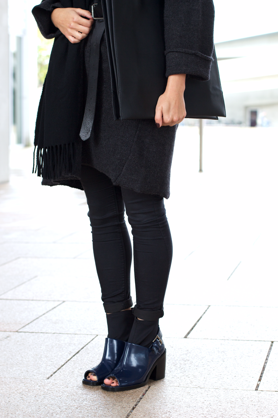 all black outfit shellys and acne canada