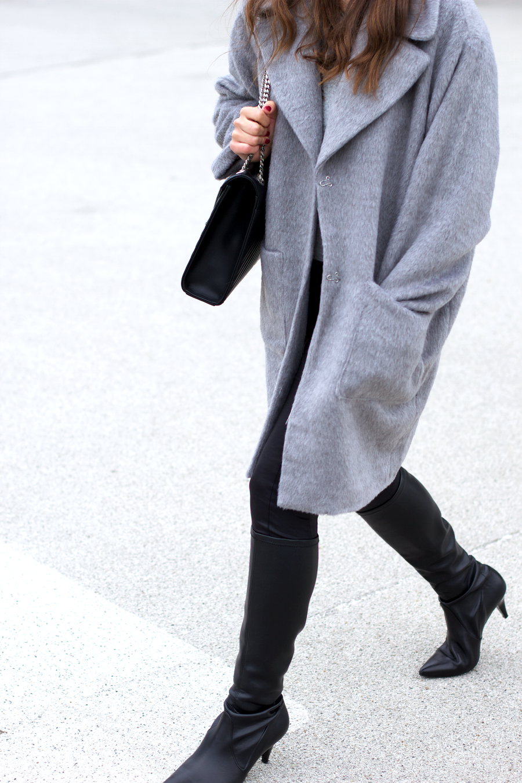 Grey Missguided Teddy Coat