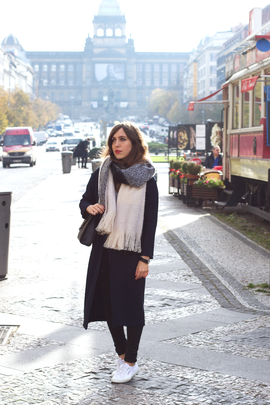 wenceslas square outfit blanket scarf