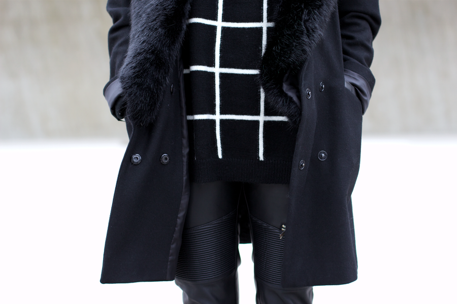 Black Outfit Acne Track Boots