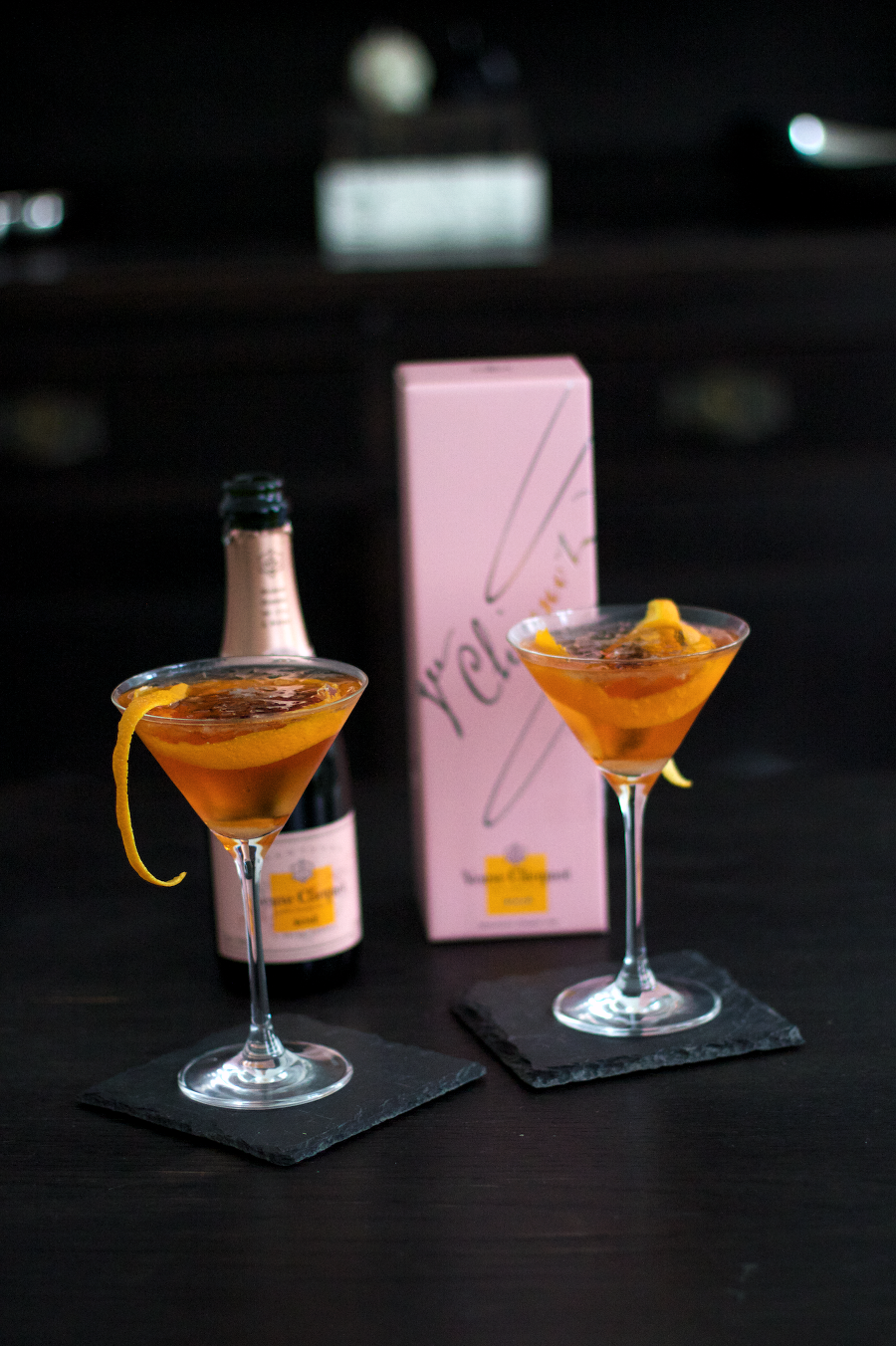 Rose Champagne Cocktail With Brandy