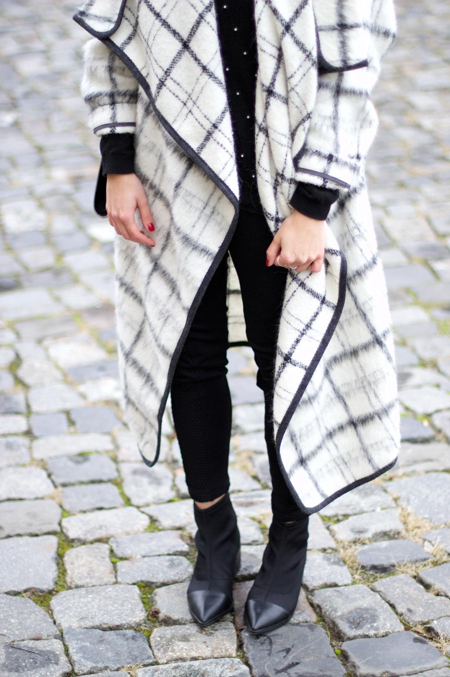 Topshop Premium Checked Coat Winter Look