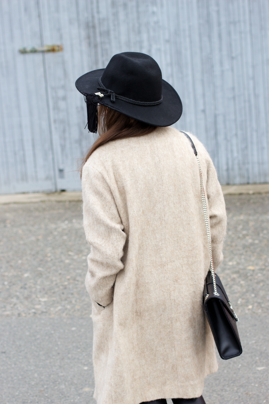 Asos Camel Coat Black Hat YSL