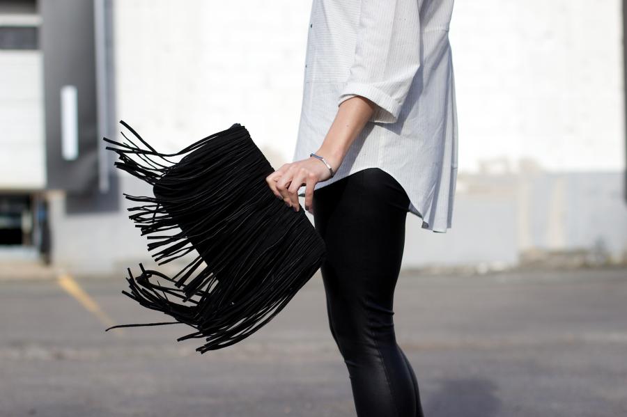 Dashing Rider Zara fringed suede western bag