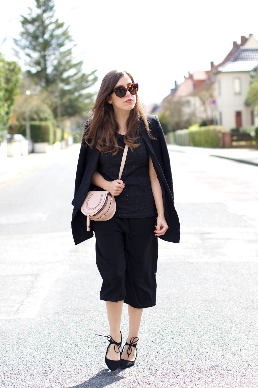 The Dashing Rider Black Culotte Chloe Outfit