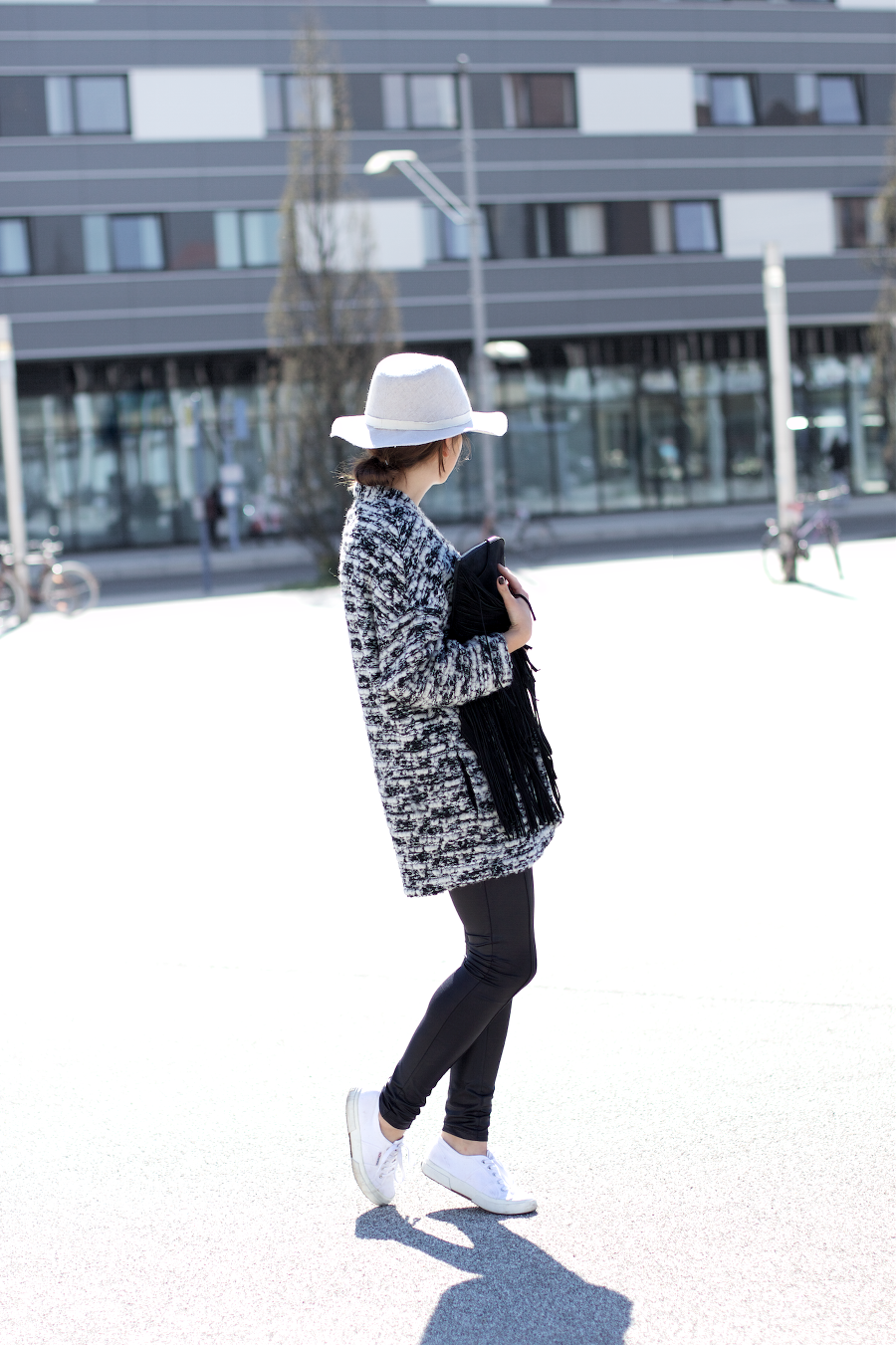 The Dashing Rider Black White Boucle Outfit
