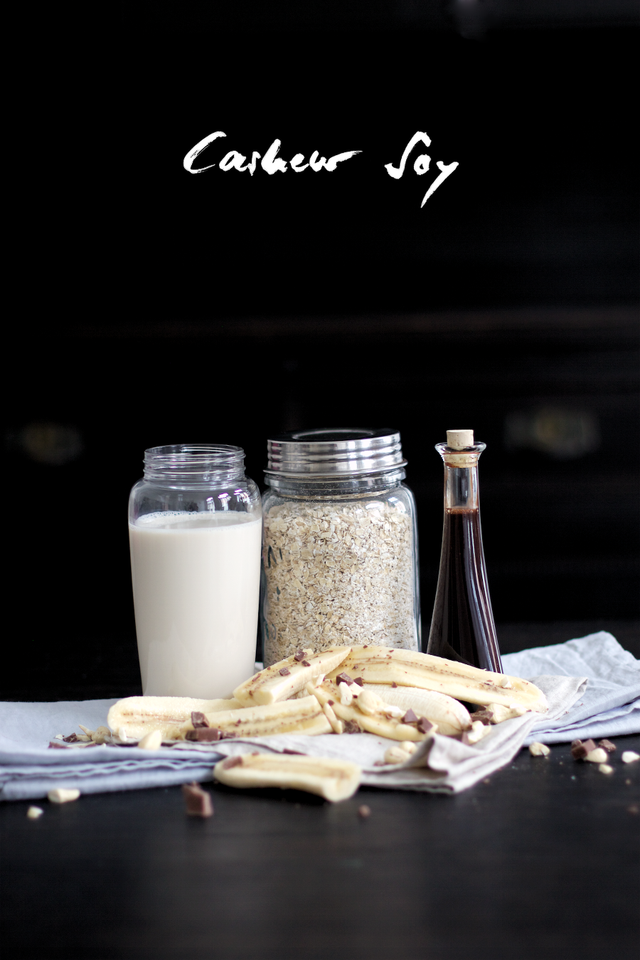 The Dashing Rider Cashew Soy Oatmeal Smoothie