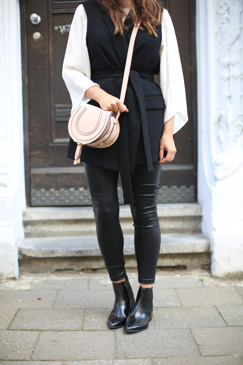 Sleeveless Belted Vest Outfit