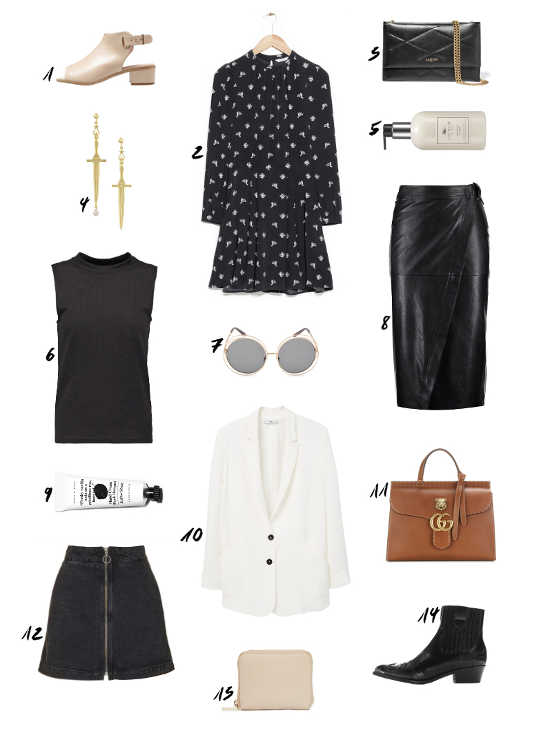 Black Flower Dress Summer Outfit
