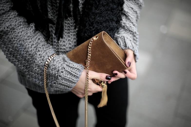 Vivian Graf Grey Knit Jumper Outfit