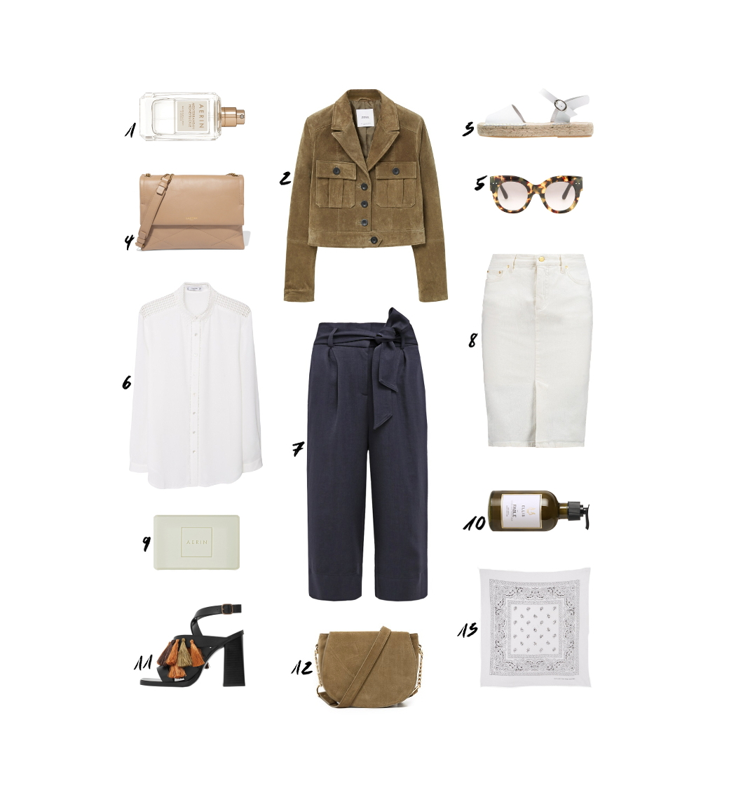 Khaki Suede Jacket Navy Outfit