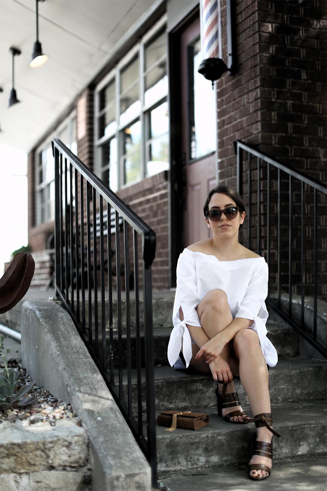 Dallas Blog Summer Off Shoulder Outfit