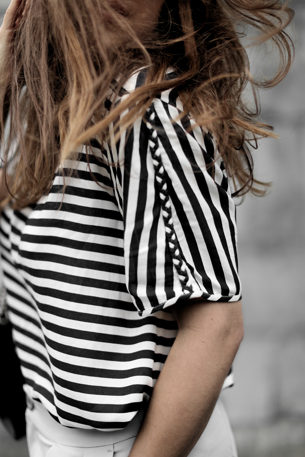 The Dashing Rider Striped Simple Shirt Outfit