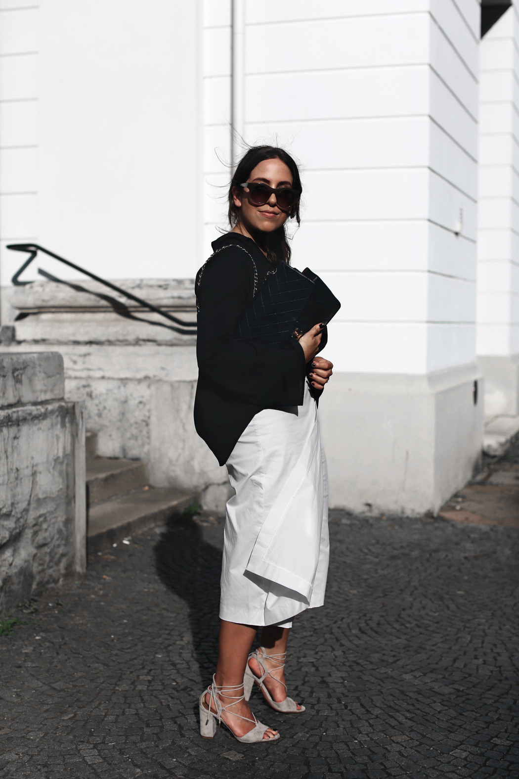 The Dashing Rider White Culotte Chanel Bag Outfit