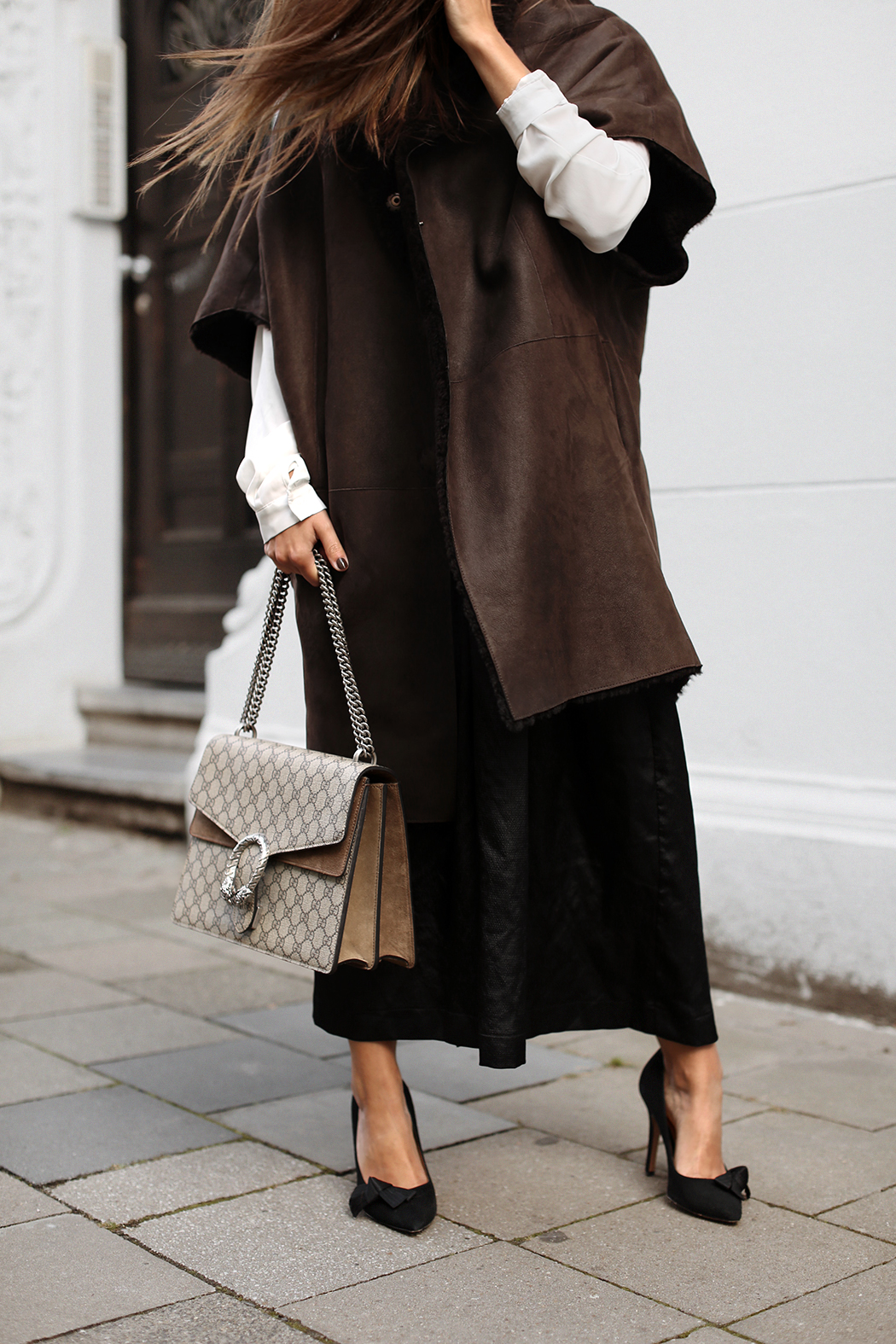 The Dashing Rider Leather Coat Gucci Bag Look