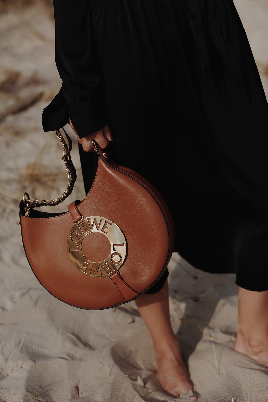 The Dashing Rider - At the beach with LOEWE Joyce Bag