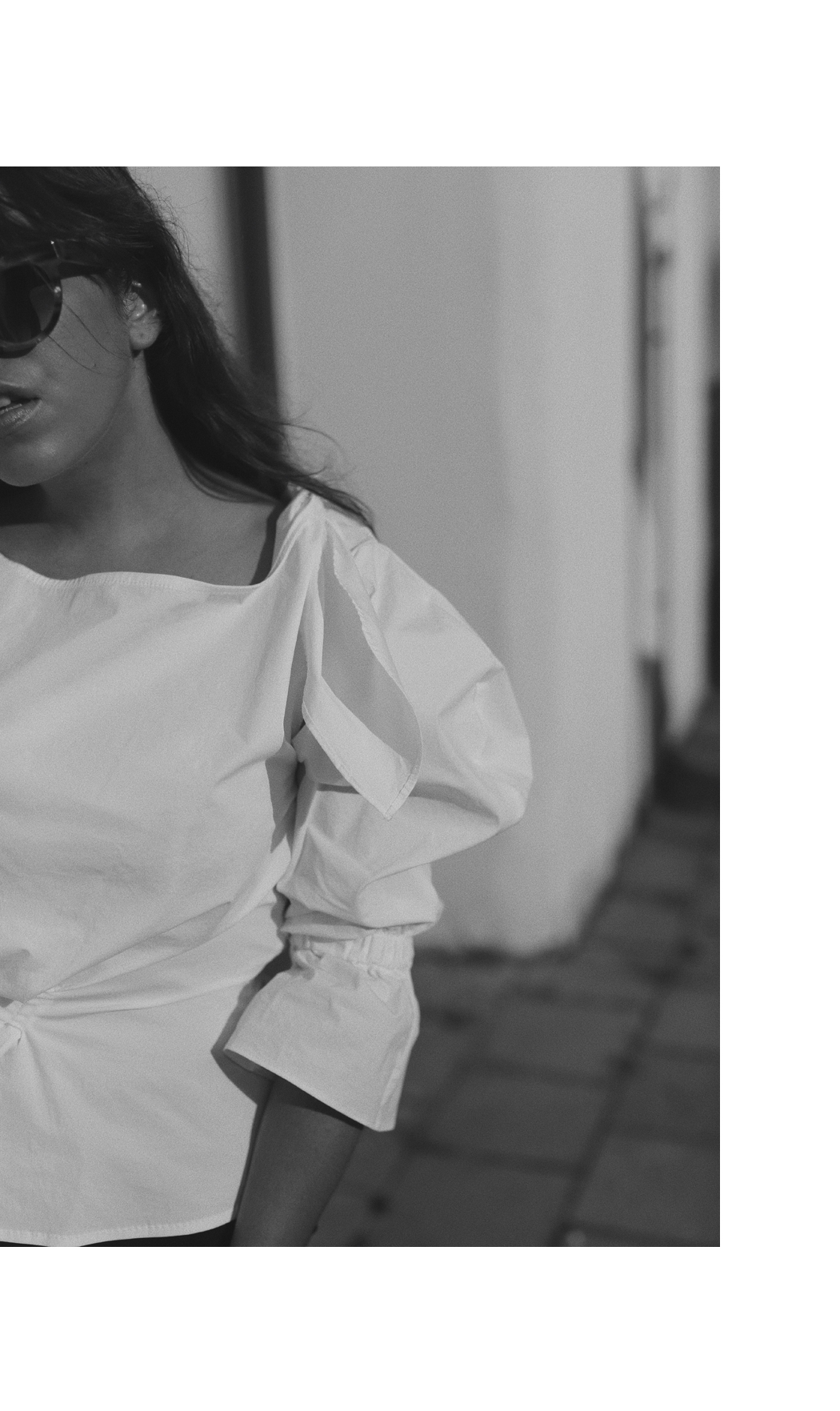 The Dashing Rider - REJINA PYO White Off-Shoulder Blouse