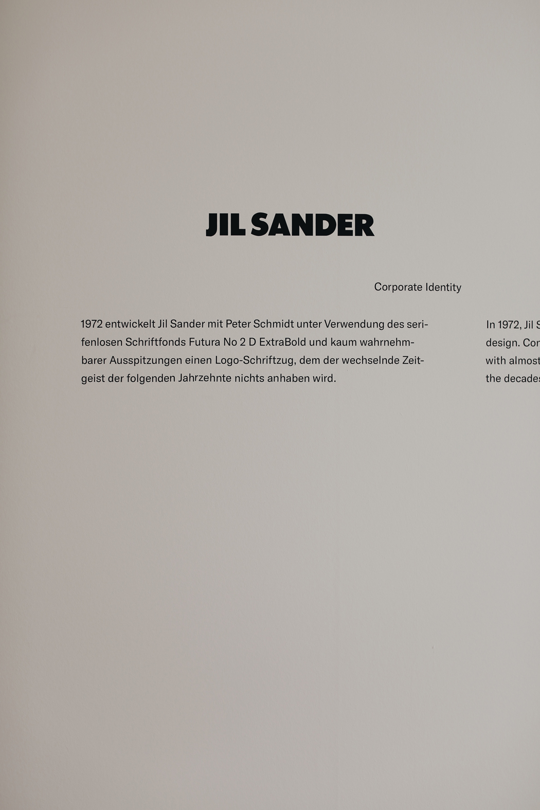 The Dashing Rider JIL SANDER Museum Angewandte Kunst Frankfurt