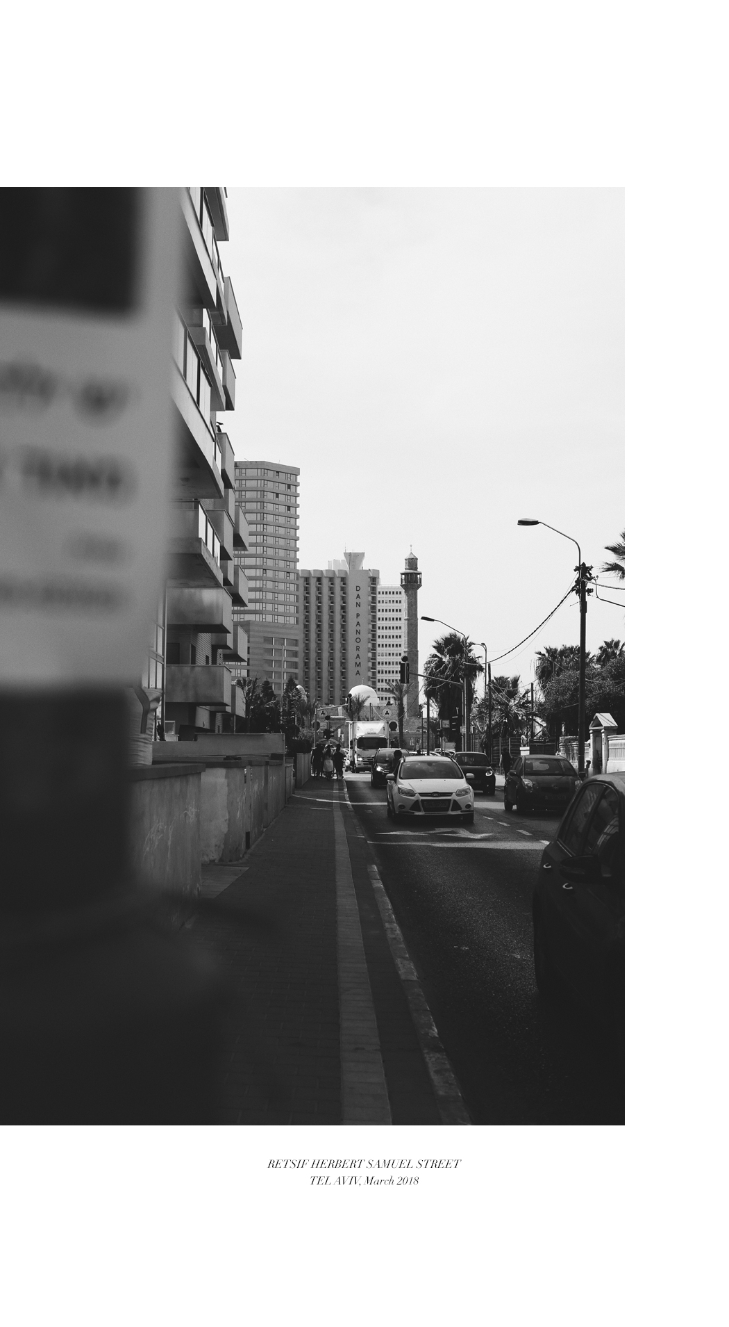 Tel Aviv Visual Story in Black and White