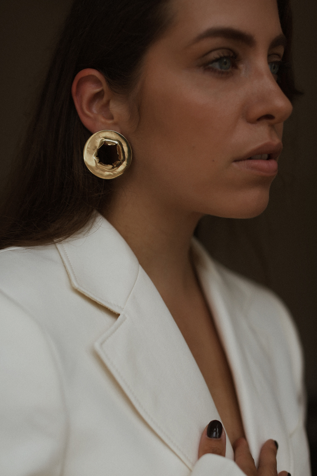 All Blues Bullet Hole Earrings - A series by Fiona Dinkelbach